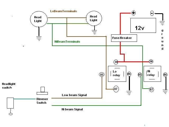 2w24zsm headlight relay diagrams the 1947 present chevrolet & gmc headlight relay wiring diagram at gsmx.co