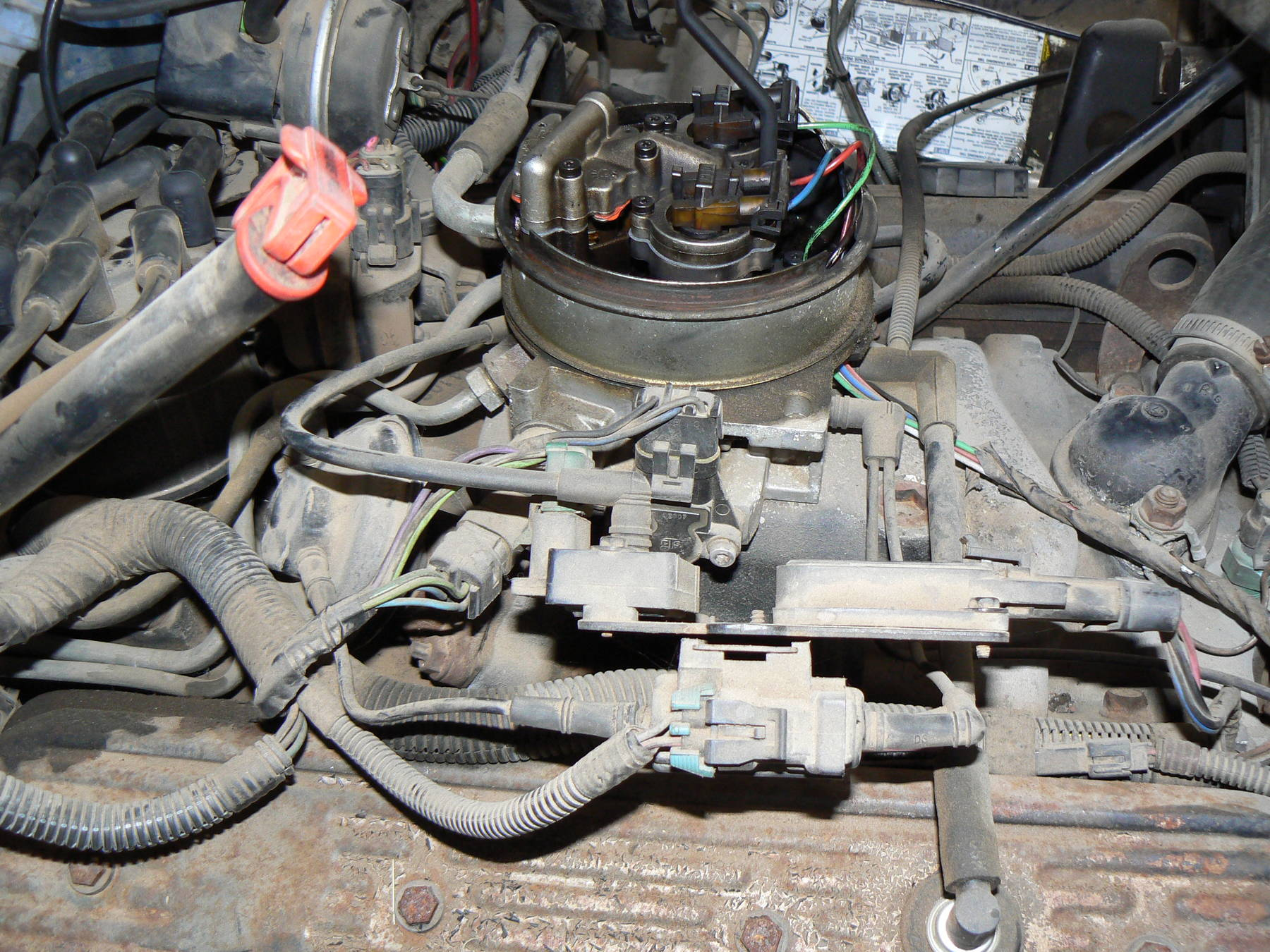 1988 350 tbi idles funny  stalls when put in gear  and