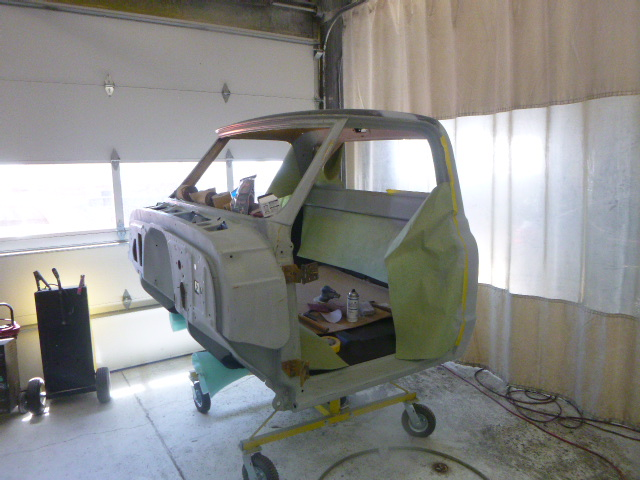 Cab Off, Ready for Paint.