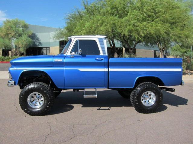 65 Chevy Blue truck