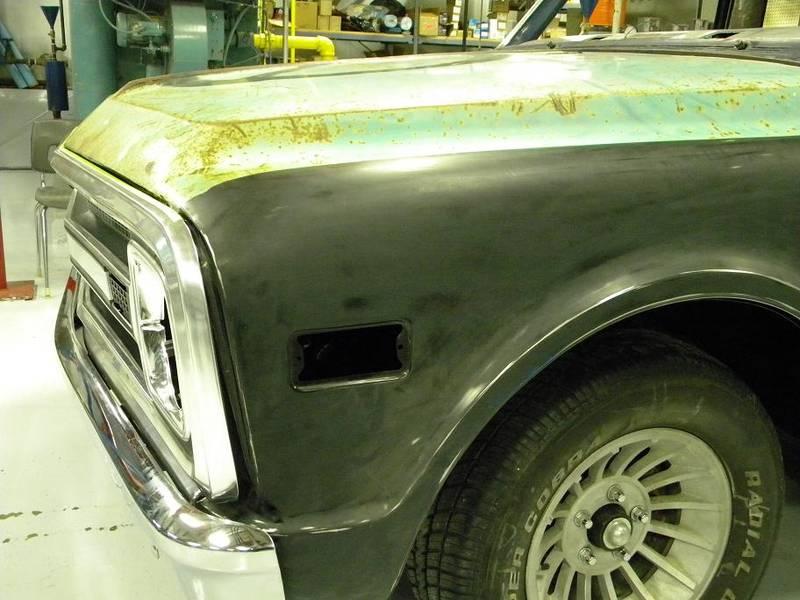 Custom 67-68 hood Chopped