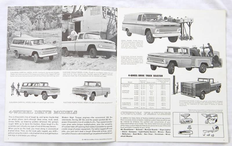 1963 4-WHEEL DRIVE MODELS BROCHURE