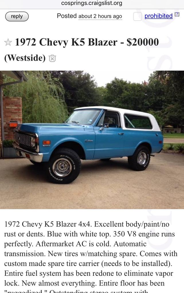 Post your C/L finds! - Page 2 - The 1947 - Present Chevrolet