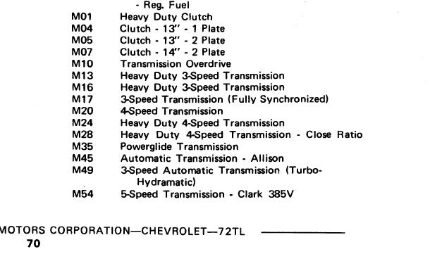 What is RPO code M-40 - The 1947 - Present Chevrolet & GMC Truck