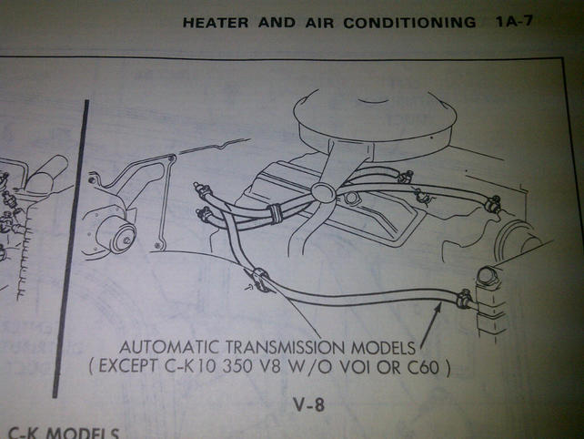 correct heater hose routing - the 1947 - present chevrolet & gmc truck  message board network