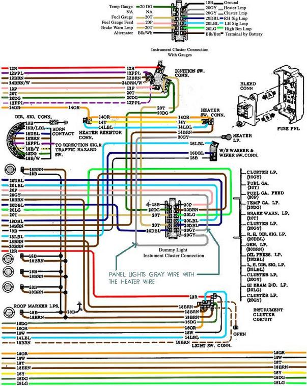 impala ignition switch wiring diagram  clustere gauge panle hook up the 1947 present chevrolet gmc on 2002 impala ignition switch wiring