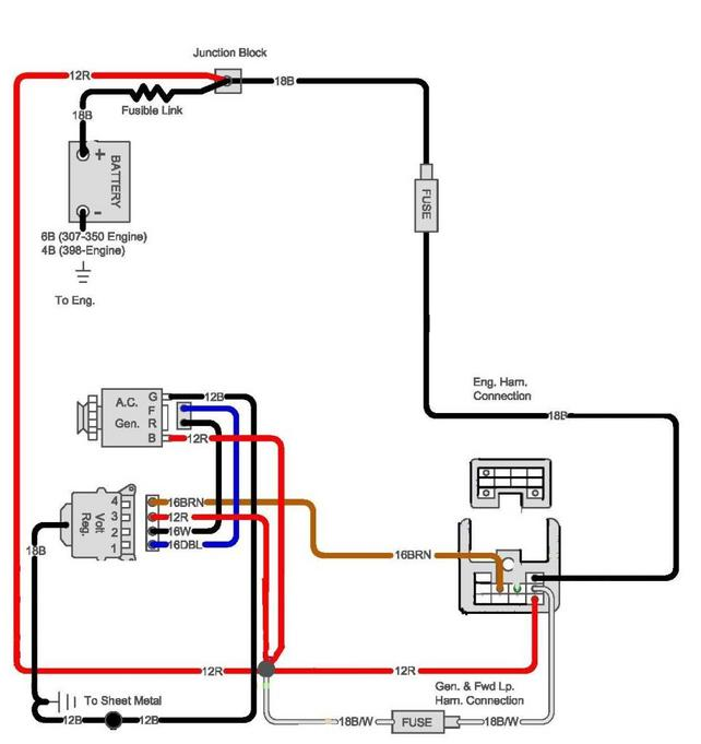 Ignition Switch Wiring Diagram 3 69 Camaro moreover 1929422297 as well Install Mustang Headlight To Firewall Wiring Harness 1966 together with 1202841 Ignition Control Module Wiring Help as well Us Cargo Trailer Wiring Diagram. on ford alternator harness