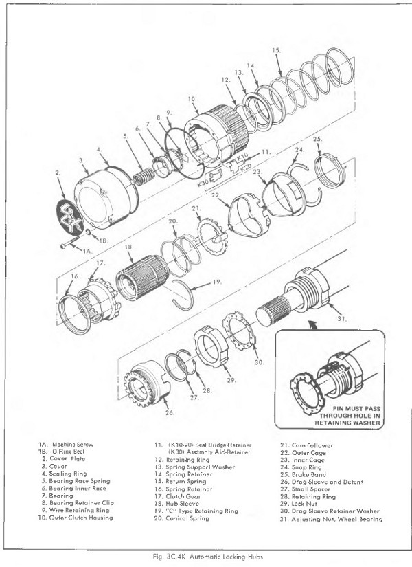 2002 chevy tracker manual locking hubs