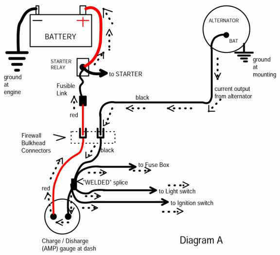 1 wire alternator diagram wiring diagram and schematic design how to wire an alternator on a tractor ehow one wire diagram