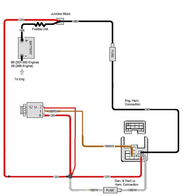 chevy one wire alternator diagram wiring diagram and schematic one wire alternator wiring diagram