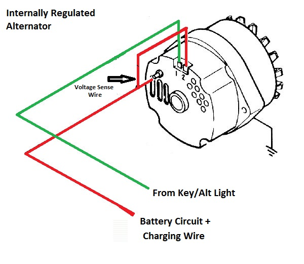 ford internal regulator alternator wiring ford auto wiring older alternator wiring diagram internal regulator older on ford internal regulator alternator wiring
