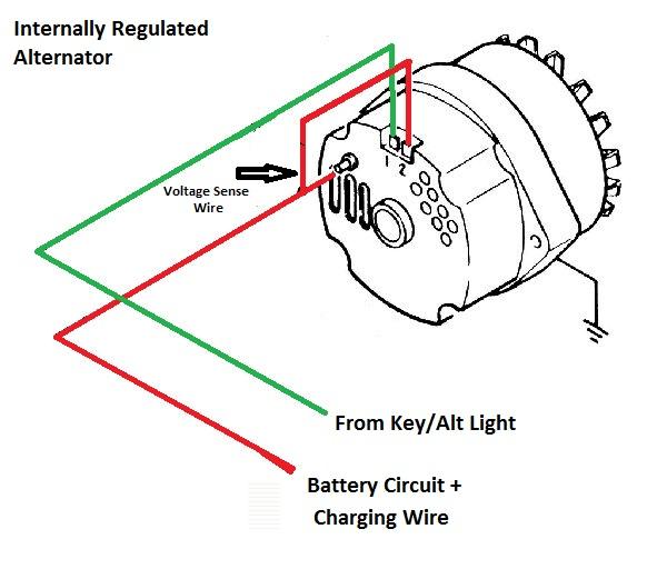 gm alternator wiring diagram internal regulator gm older alternator wiring diagram internal regulator older on gm alternator wiring diagram internal regulator