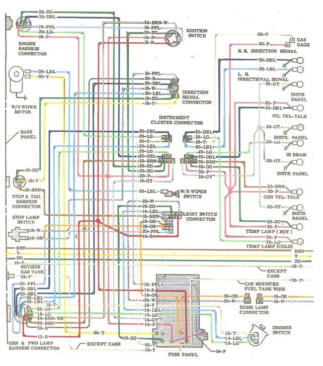 wiring diagram for 1968 chevy truck wiring wiring diagrams