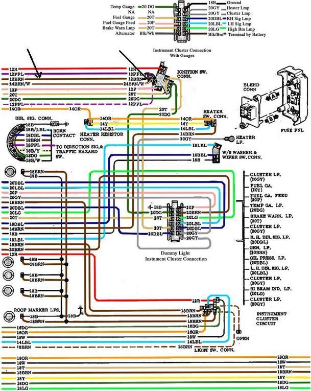 Fantastisch 72 Chevy Pickup Schaltplan Zeitgenössisch - Elektrische ...