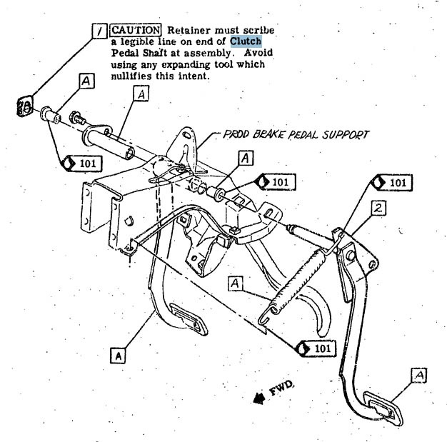 Chevy K10 Clutch Return Spring Diagram. Engine. Auto Parts