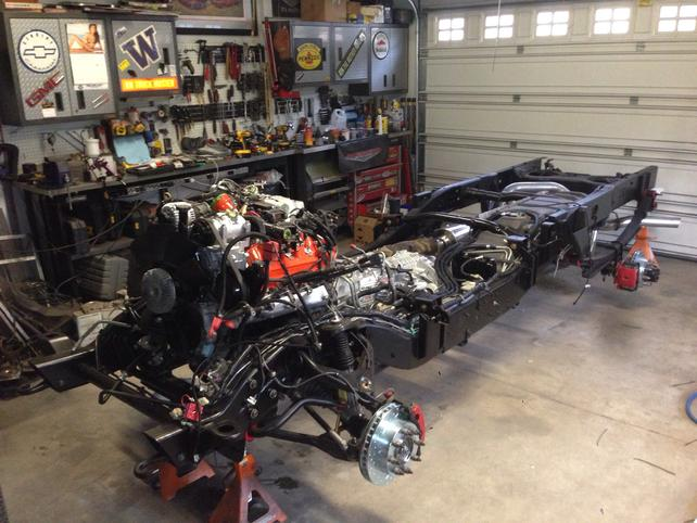 1970 C20 long bed Duramax, Allison, on a 2003 4x4 chassis ...
