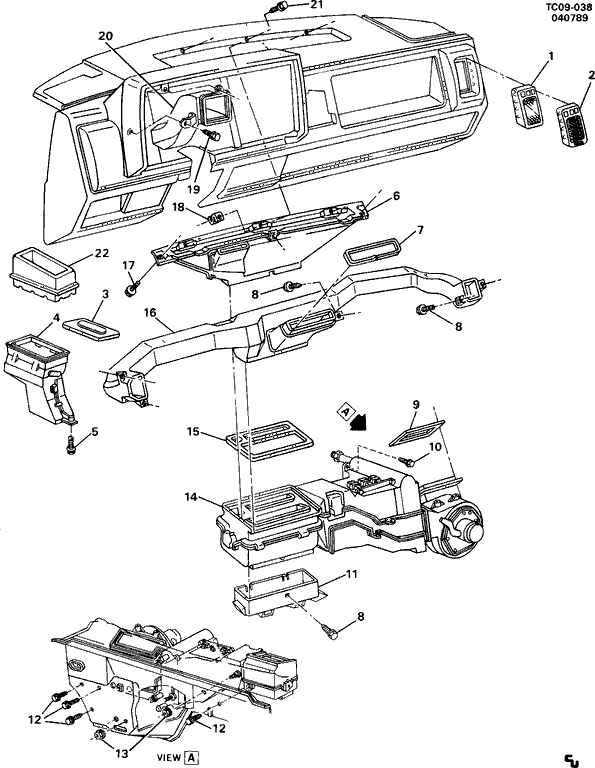 2005 Chevy Silverado Parts Diagrams Heater Blender