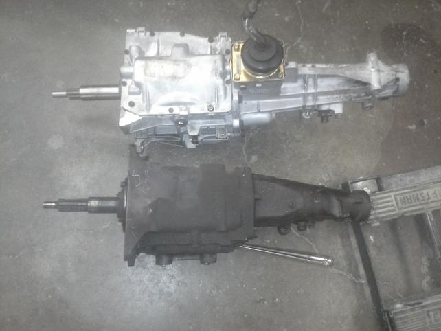 T5 T-5 transmission to 235 inline or V8 with 10 spline the easy way