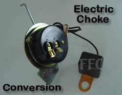 Electric choke conversion kit for buick 1968-74 quadrajet carburetors.