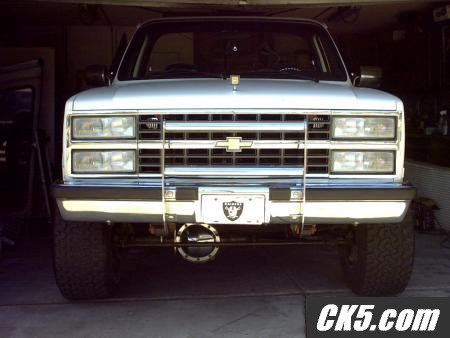 Looks Like 2 Sets Of Composition Headlights On This K5 Blazer