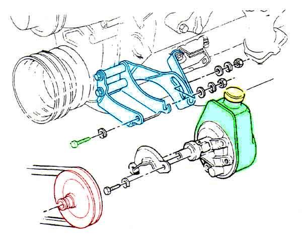 1986 chevy 350 power steering bracket