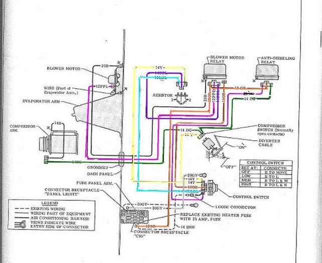 AC wiring diagram 68-72 Factory - The 1947 - Present Chevrolet & GMC Truck  Message Board Network  67-72 Chevy Trucks