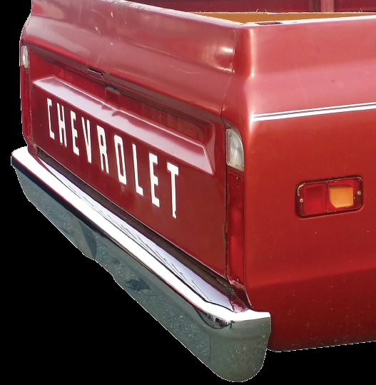 """Chrome 1967-1972 Chevy Pickup Custom """"Smoothie"""" Front Bumper"""
