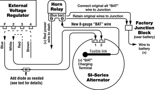 delco alternator wiring diagram external regulator delco typical wiring diagram alternator and external voltage regulator gm