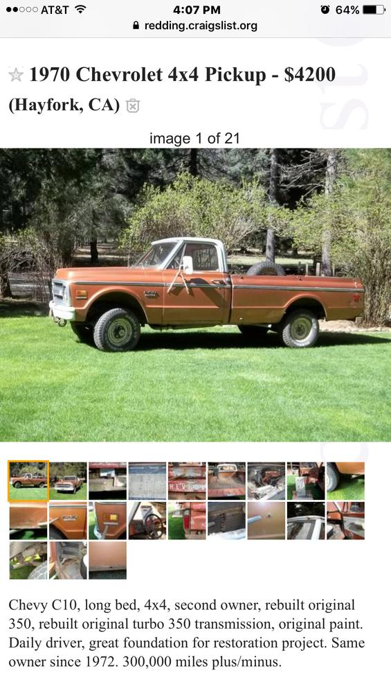 Post Your Craigslist Finds - Page 95 - The 1947 - Present