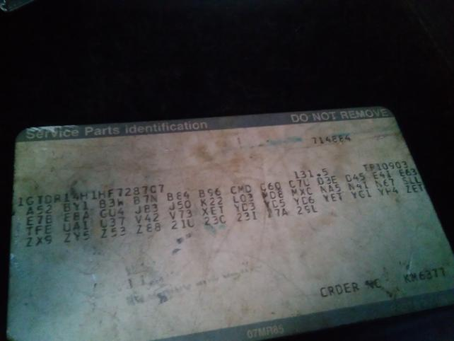 Gm Rpo Codes