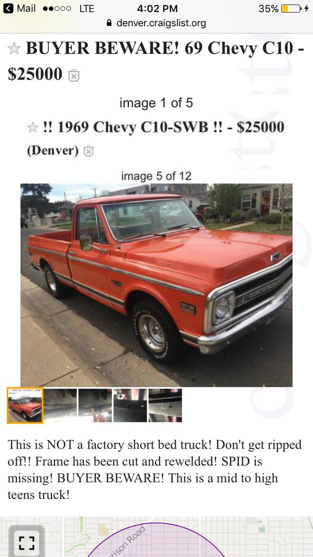 Post Your Craigslist Finds - Page 146 - The 1947 - Present Chevrolet
