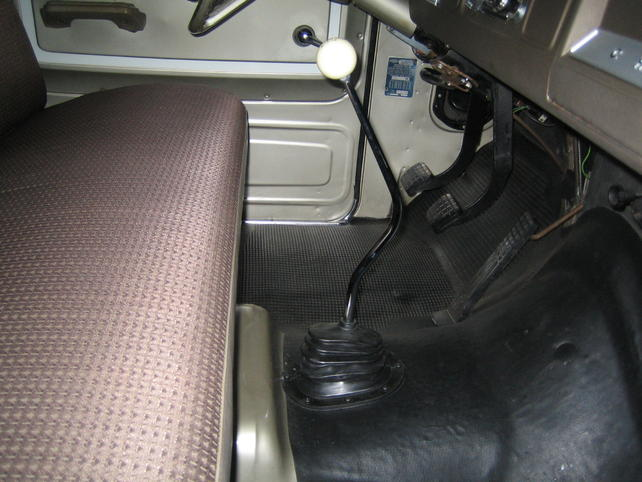 3 on the tree floor shifter conversion for a 65 - The 1947