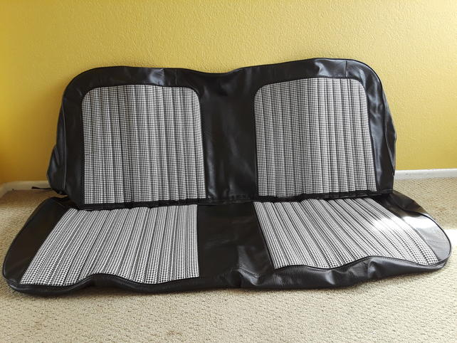 Outstanding Ca 71 72 Truck World Blk Wht Houndstooth Bench Seat Cover Dailytribune Chair Design For Home Dailytribuneorg
