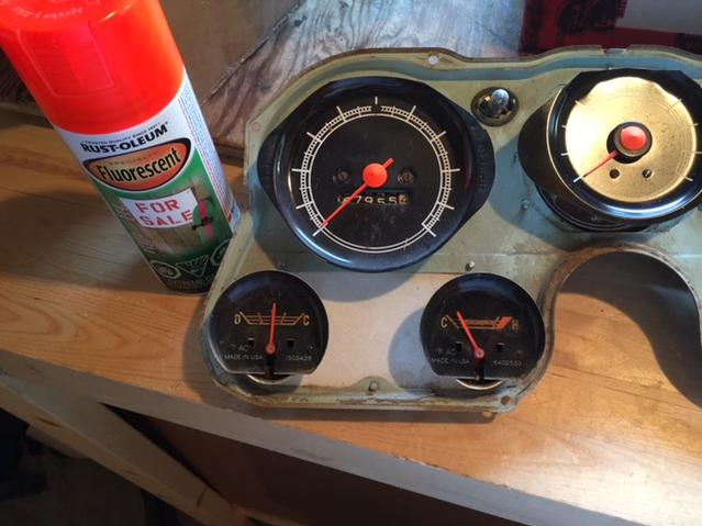 What color orange do you use to paint gauge needles? - The