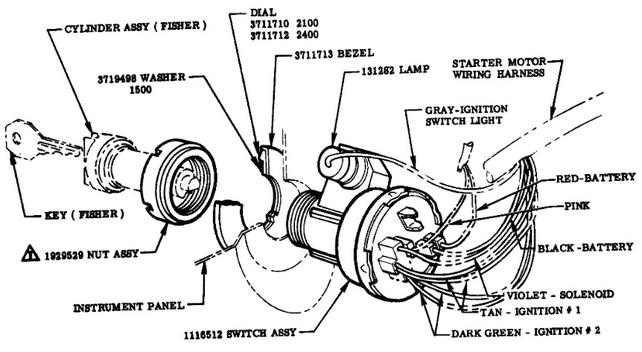 55.2-59 Wiring schematic for key switch - The 1947 - Present Chevrolet &  GMC Truck Message Board Network67-72 Chevy Trucks