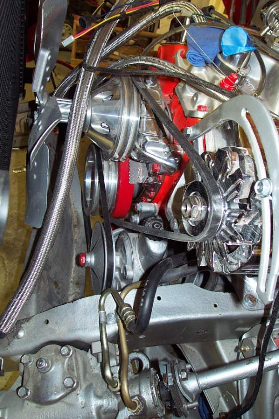 Need a pic of small block  swp pulleys and belt routing