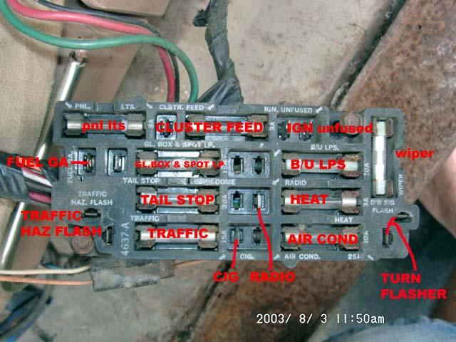 1973 chevy fuse box diagrams  4 light dual circuit wiring