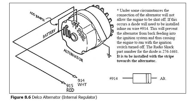 attachment  Wire Alternator Wiring Diagram With Diode For Chevy on