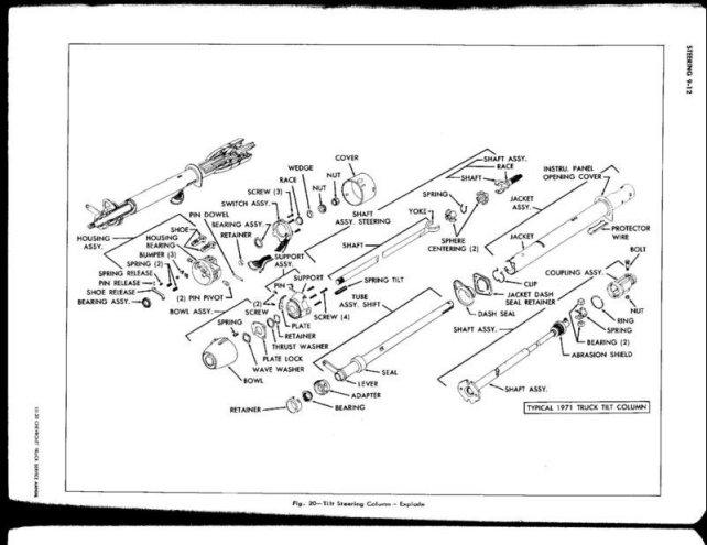 Steering Column Diagram - The 1947 - Present Chevrolet & GMC