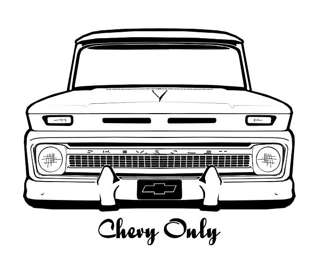 Chevy Truck Outline Drawing