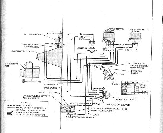 Wiring diagram for engine compartment with factory AC