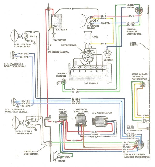 chevy wiring diagram 1964 colored wiring diagram the 1947 present chevrolet gmc 1964 colored wiring diagram the 1947 present
