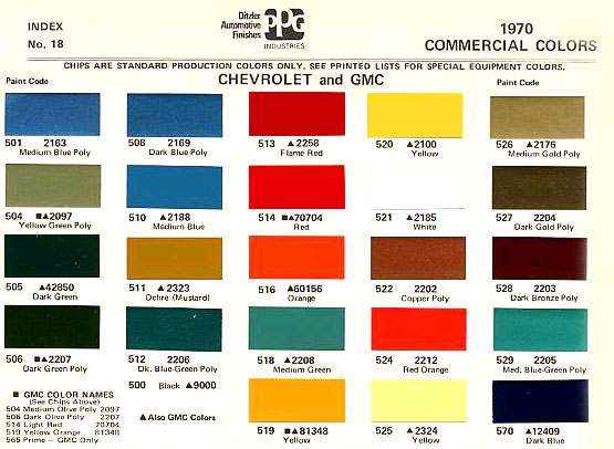1970 Color Code