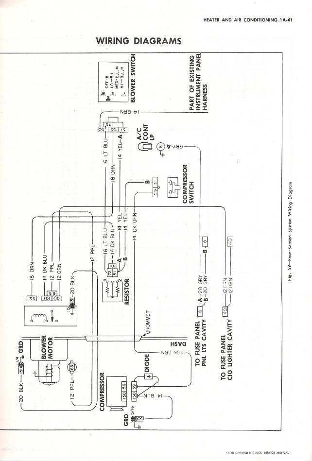 70 chevy c10 wiring diagram 70 chevy c10 wiring schematic 70 chevy a/c wiring diagram - the 1947 - present chevrolet ...
