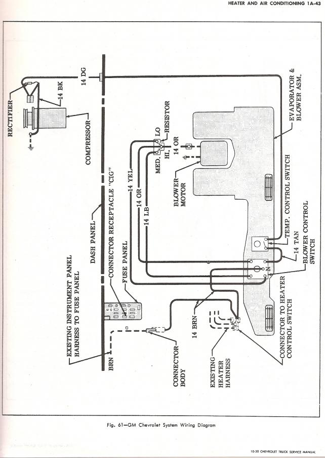 70 chevy a  c wiring diagram the 1947 present chevrolet
