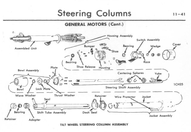 1972 chevy truck steering column diagram