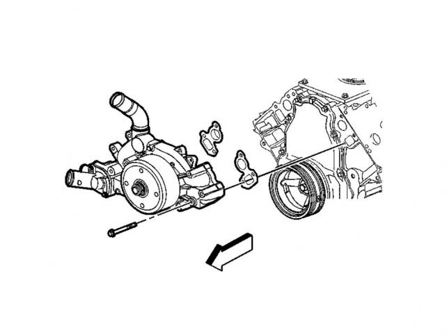 help water pump replacement 2004 chevy hd 6 0 gas