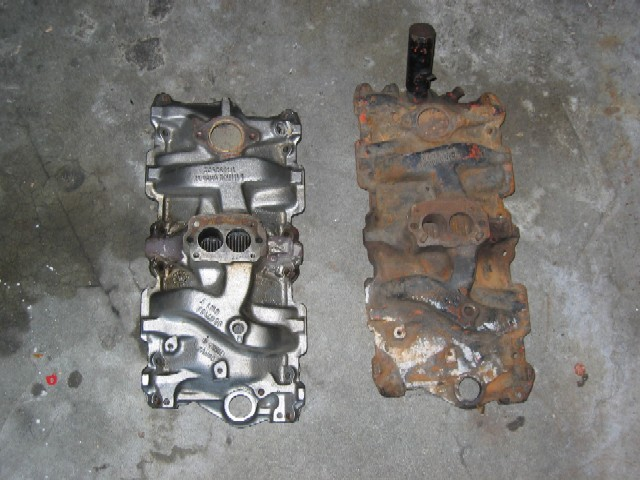 intake manifold removal/clean/ paint tips - The 1947
