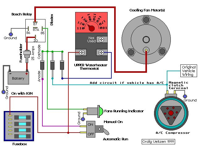 Which Electric Fan Relay with Thermostat - The 1947 - Present ... on car electric fan wiring, current wind power relay solenoid wiring, install electric fan wiring, thermostat relay wiring, 22re electric fan wiring, aftermarket electric fan wiring, electric cooling fan wiring,