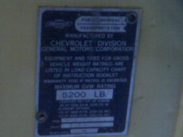 1947 chevy stylemaster vin number location  1947  get free
